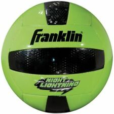 Franklin Sports Night Lightning Glow in the Dark Volleyball Official Size