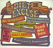 Original Vintage Diet Excuse Iron On Transfer