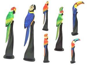 Vogel Tukan Papagei Sittich Kakadu Ara Holz Tier Figur Deko Flamingo 40 cm
