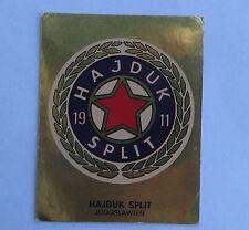 Panini Fussballsticker 1980  Hajduk  Split  Gold Wappen Fussballbild  selten