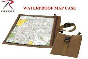 Coyote Brown MilitaryTactical Waterproof Map & Document Case Pouch Rothco 9238