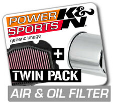 K&N Air & Chrome Oil Filter TRIUMPH Thunderbird 1699 2011-2013  KN Twin Pack!