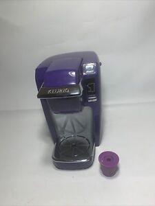 Keurig K10 MINI Plus Personal Coffee Brewer Maker Purple Working 6-10oz Capacity