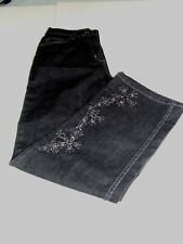 Denim & Company Straight Leg Jeans-Embellished-Small-NEW with tags-B2-32