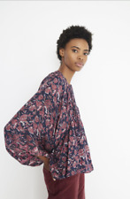 NWT Apiece Apart $375 Evi Pintuck Blouse in Multi Floral; 2