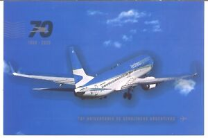 2020 ARGENTINA / POSTCARD -70 years of Aerolineas Argentinas