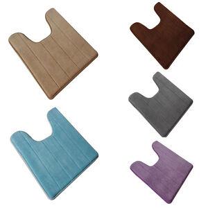 Memory Foam Anti Slip Toilet Floor Mat Washable Bath Pedestal Pad Rug Soft JN