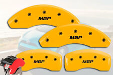 "2012-2018 Toyota Yaris SE Front + Rear Yellow ""MGP"" Brake Disc Caliper Covers 4p"