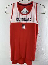 St Louis Cardinals Baseball MLB Majestic Sleeveless Women's T-Shirt Size M New