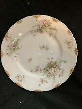 Theodore Haviland China  Schleiger 52 floral decorated dinner plates with roses