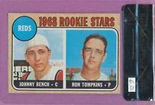 1968 Topps Johnny Bench #247RC Cincinnati Reds HOF Rookie BVG 6