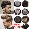Uomo Toupee Hairpiece Lace & Skin NG Sistema Di Sostituzione Dei Capelli Umani