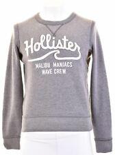HOLLISTER Mens Sweatshirt Jumper Small Grey Cotton  HF01