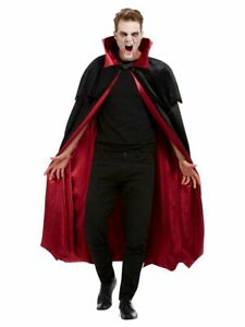 Deluxe Vampire Cape Professional Stage Quality Velour Lining Adults Fancy Dress