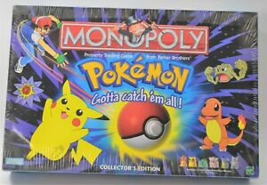 POKEMON MONOPOLY Collector Edition NEW Board Game Pewter FACTORY SEALED NOS