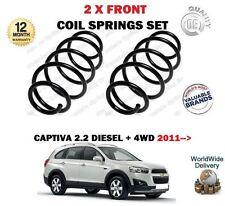 POUR CHEVROLET CAPTIVA 2.2 DT + 4WD 2011 > 2 X RESSORTS HÉLICOÏDAUX AVANT SET