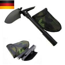 4 in 1 41.5 CM Klappspaten Bundeswehr mit Kompass Tasche Armeespaten Karbonstahl