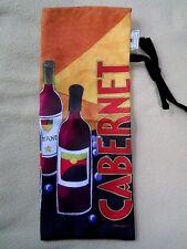 vintage Cypress Home Wine bottle cloth gift bag tote