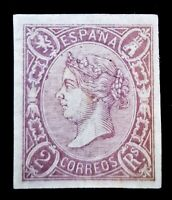 SPAIN 1865 SCOTT-EDIFIL # 73☆2 REALES w SLAB & CERT.☆MNG WIDE MARG XF☆RARE☆$620