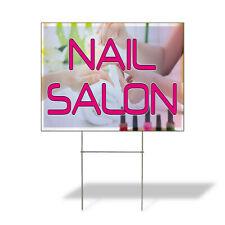 Weatherproof Yard Sign Nail Salon Outdoor Advertising Printing B Lawn Garden