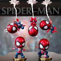5pcs/set Cute Spiderman MIni Figure Marvel Model Doll Car or home decoration