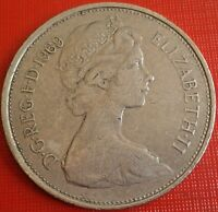 Uk Coin 10 Pence New 1969 Britain Great Elizabeth II Pcgs Color Circulated