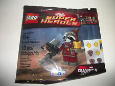 New Lego Super Heroe Polybag Sealed Gotg Rocket Raccoon Minifig Toy Gift