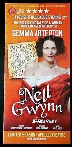 Nell Gwynn flyer/leaflet Apollo Theatre 2016 Gemma Arterton Jessica Swale