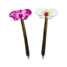XONEX PINK OR WHITE ORCHID Flower SINGLE PEN Black Ink Ballpoint Pen #10712