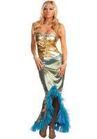 Mermaid Ladies Fancy Dress Fairytale Princess Womens Adult Costume Outfit 8-16