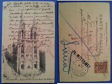Marseille Marsiglia - Chiesa di San Vincenzo de Paoli, viaggiata nel 1903