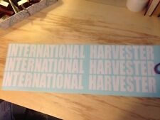 """3 -  28"""" x 3.75"""" INTERNATIONAL HARVESTER DECAL STICKER DIESEL TRUCK ANY COLOR"""