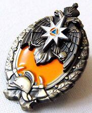 The Best Fireman Original Russian MChS Badge of Distinction + Document