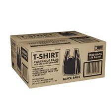 Black T Shirt Carryout Bags 115 X 65 X 22 1000 Ct