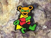 Superhero Robin Mash-Up Meme Grateful Dead Pins Heady Festival Hat Pin
