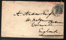 South Africa Transvaal 1898 Postal History Cover to Cornwall GB