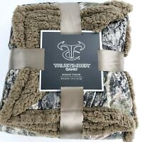 "True Timber 50"" x 60"" Soft Camouflage Sherpa Plush Throw Fleece Blanket - New"