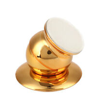 360 Degree Rotating Car Mount Magnetic Holder Stand For Phone Smartphone Gold*
