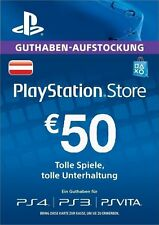 Österreich Only 50 € Playstation AT Store Key Card 50 € / PS3 PS4 PSP PSVITA PSN