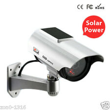 Solar Power Fake Camera Outdoor Security CCTV Surveillance Dummy Camera with LED
