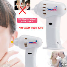 Electric Ear Dirt Wax Remover Vacuum Cleaner Painless Cordless Safety Ear-wax