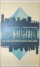 2019 Chris Stapleton - Memphis Letterpress Concert Poster by Brad Vetter