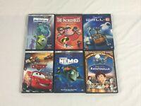 Disney Pixar DVD lot of 6 Cars Finding Nemo Ratatouille Incredibles Monsters Inc