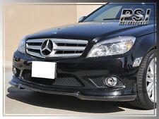 CS Style Carbon Fiber Front Bumper Lip Fit 2008-2011 W204 C300 C350 4Dr w/ AMG