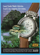 MOTOSPRINT992-PUBBLICITA'/ADVERTISING-1992- CAMEL TROPHY WATCH COLLECTION