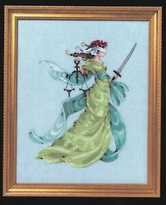 MD160 Lady Justice Counted Cross Stitch Chart Pack from Mirabilia Designs