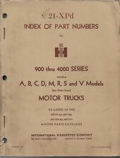 INTERNATIONAL HARVESTER IH Index of Part Numbers Motor Truck, 21-XPD 1965 ORIG