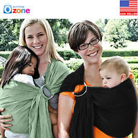 New Baby Infant Newborn Adjustable Carrier Sling Wrap Pouch Ring Carrier