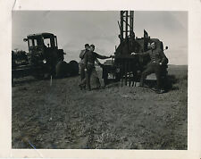 1940s US Army Base Ca  Photo #6 Road Grader, Truck with pile driver?