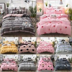 Home textile Soft 3D Print Comfortable Quilt Duvet Cover Flat Sheet Bedding Sets